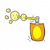 image of spray can  - retro comic book style cartoon aerosol spray can - JPG