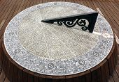 picture of sundial  - A large sundial timepiece that is aligned with the true north - JPG