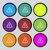 image of hazard symbol  - Attention caution sign icon - JPG