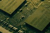 picture of microchips  - Microchips and circuit stamps in vintage style - JPG