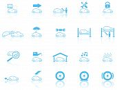 stock photo of pick-lock  - Set of 20 Motor General Maintenance Icons - JPG