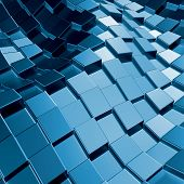 stock photo of three dimensional shape  - Abstract three - JPG