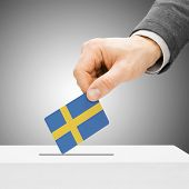 stock photo of sweden flag  - Voting concept  - JPG