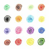 picture of hypnotizing  - Handpaint watercolor vector background - JPG