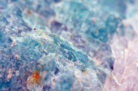 foto of feldspar  - Amazonite is a bluish - JPG
