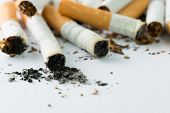 picture of ashes  - Close up shoot or cigarettes and ash - JPG