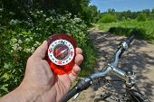picture of compasses  - The compass and the bike - JPG