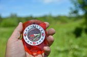 picture of compasses  - Compass in hand - JPG