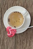 picture of valentine candy  - Hot tea in glass and candy sweet valentines heart - JPG