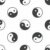picture of ying yang  - Image of ying yang symbol - JPG
