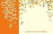 image of creeper  - Isolated tropical creeper leaves vector for autumn background - JPG