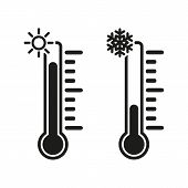 pic of temperature  - The thermometer icon - JPG