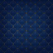 picture of quilt  - Quilted simple arabesque seamless pattern - JPG