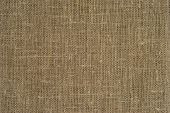 stock photo of sackcloth  - Fragment of rough piece of sackcloth - JPG