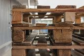 pic of wooden pallet  - Several Wooden Pallets for transportation and logistic - JPG