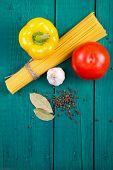 stock photo of yellow-pepper  - Spaghetti - JPG