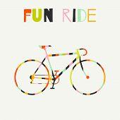 foto of color wheel  - Bike in colorful stripes - JPG