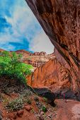 image of colorado high country  - Girl Hiker Backpacker in the Neon Canyon Utah Escalante National Park - JPG