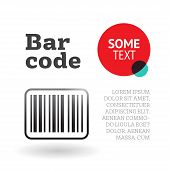 picture of barcode  - Brochure or page template design with barcode - JPG