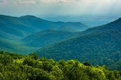 pic of blue ridge mountains  - View of the Blue Ridge Mountains from Blackrock Summit in Shenandoah National Park Virginia - JPG