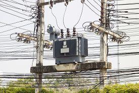 pic of transformer  - Electric transformer substation at Hospital North Thailand - JPG