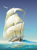 stock photo of sloop  - Ocean - JPG