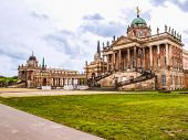 Neues Palais In Potsdam Hdr poster