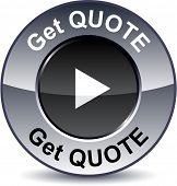 Get quote round metallic button. Vector.