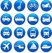 Постер, плакат: Оригинальные векторные иллюстрации: транспорт значки элементов дизайна