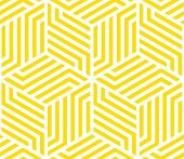 Abstract Geometric Pattern With Stripes, Lines. Seamless Vector Background. White And Yellow Ornamen poster