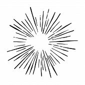 Sunshine. Explosion Vector Illustration. Rays Element. Sunburst, Starburst Shape On White. Radial Li poster