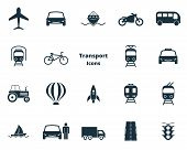 Постер, плакат: Set Vector Transport Icons Collection In Flat Design City Transport Vihecles Auto For Web Design
