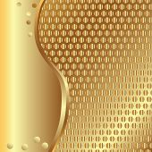 stock photo of gold glitter  - Vector gold metallic background for your design - JPG
