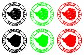 Постер, плакат: Made In Zimbabwe Rubber Stamp Vector Zimbabwe Map Pattern Black Green And Red