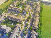 Top View Full Large Typical Apartment Complex In Houston, Texas, Usa poster