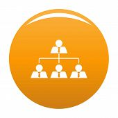 Leadership Icon. Simple Illustration Of Leadership Vector Icon For Any Design Orange poster