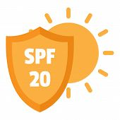 Spf 20 Uv Logo. Flat Illustration Of Spf 20 Uv Vector Logo For Web Design poster