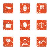 Online Journey Icons Set. Grunge Set Of 9 Online Journey Vector Icons For Web Isolated On White Back poster