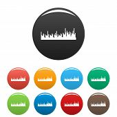 Equalizer Audio Icon. Simple Illustration Of Equalizer Audio Vector Icons Set Color Isolated On Whit poster