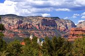 stock photo of tipi  - Native American tipi in Arizona with Red Rocks in the backdrop - JPG