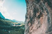 A Girl Climbs The Rock. poster
