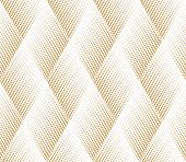 Abstract Geometric Pattern. A Seamless Vector Background. White And Gold Ornament. Graphic Modern Pa poster