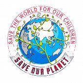 World International Earth Day Concept, Eco Ecology, Climate Changes, Earth Day April 22, Planet With poster