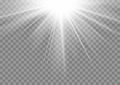 Light Ray Flare Isolated On Transparent Background. Shine Bright Sun Burst Effect. Glow Explosion Fl poster