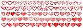 Heart Love Vector Doodle. Heart Outline Hand Drawn Icon. Heart Shape Sketch Sign.heart Vector Big Se poster