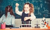 Lab Microscope And Testing Tubes. Chemistry Science. Little Children. Science. Little Kids Scientist poster