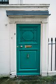 Nice Traditional Green Or Blue Door An Exclusive Mews With White Small Houses In Chelsea, A Wealthy poster