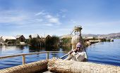 Lake Titicaca, Peru, Local Boat