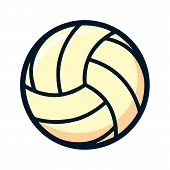 Volleyball Logo Element, Vector Volley Ball Icon, Sport Sign Template, Summer Beach Ball, Vector Ill poster