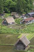 Farm House In Historical Village Of Shirakawa-go. Shirakawa-go Is One Of Japans Unesco World Herita poster